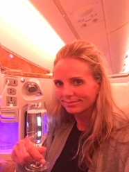 Great food and drinks on the plane