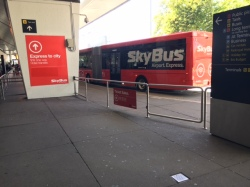 By Skybus to my Airbnb