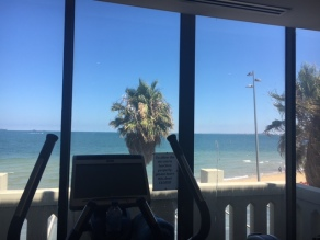 view at the gym