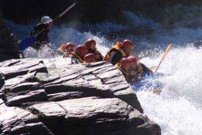 Water rafting was super cool!